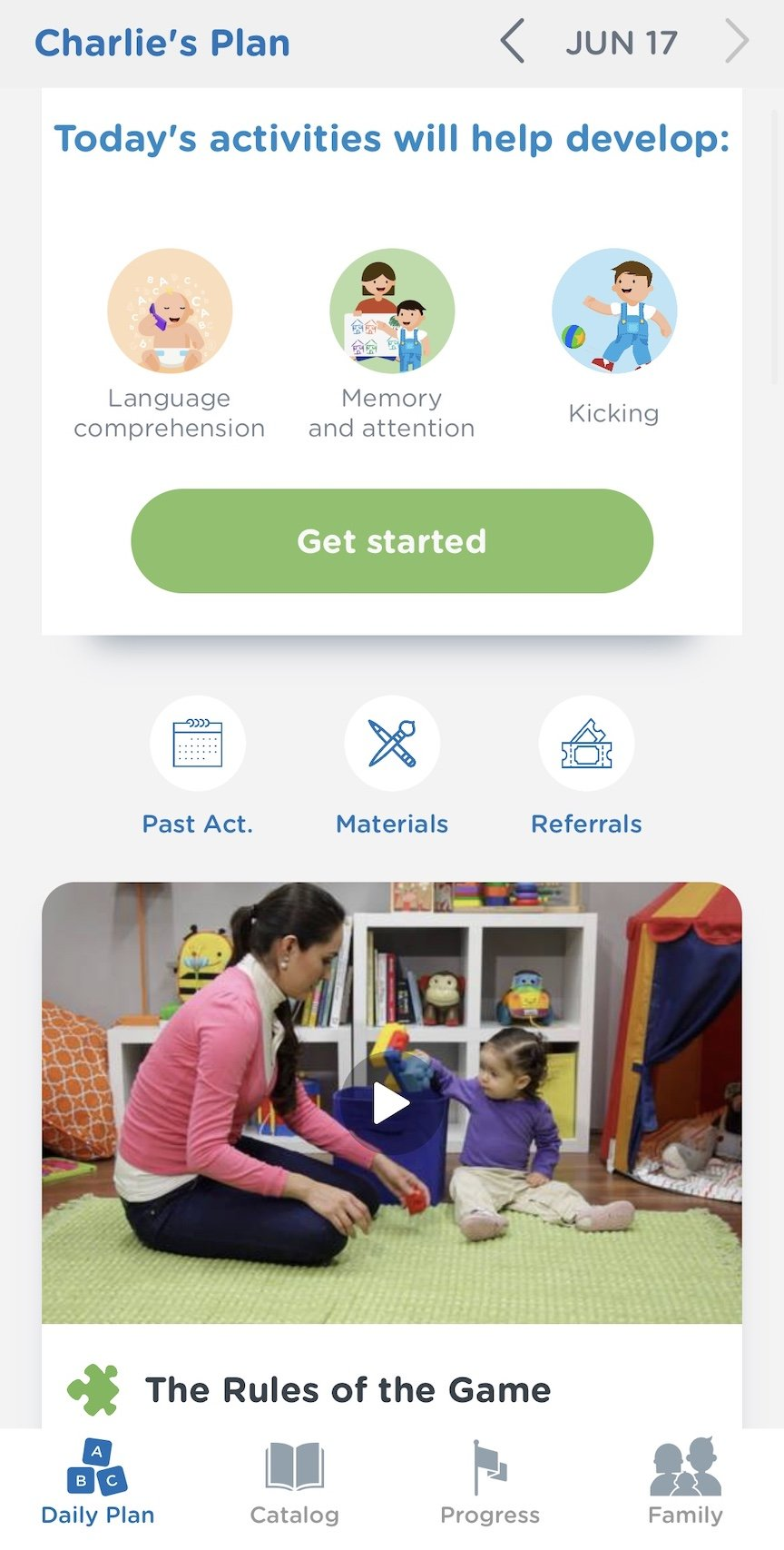 Personalized activity plan according to your baby's developmental stage.